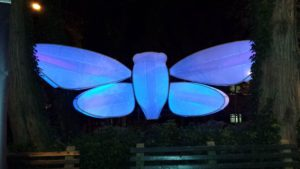 Light Up Cicada Sculpture at the Staten Island Museum by Roy Troutman