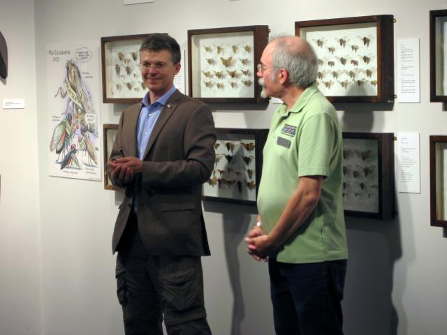 John Cooley and Ed Johnson speaking at the Staten Island Museum Six Legged Sex event by Roy Troutman
