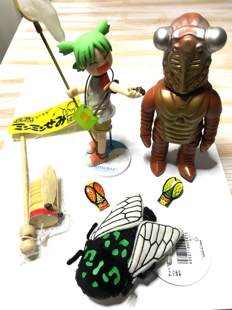 cicada related pop culture items from Japan