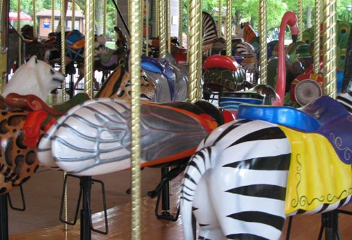 Cicada Carousel Ride at the Brookfield Zoo