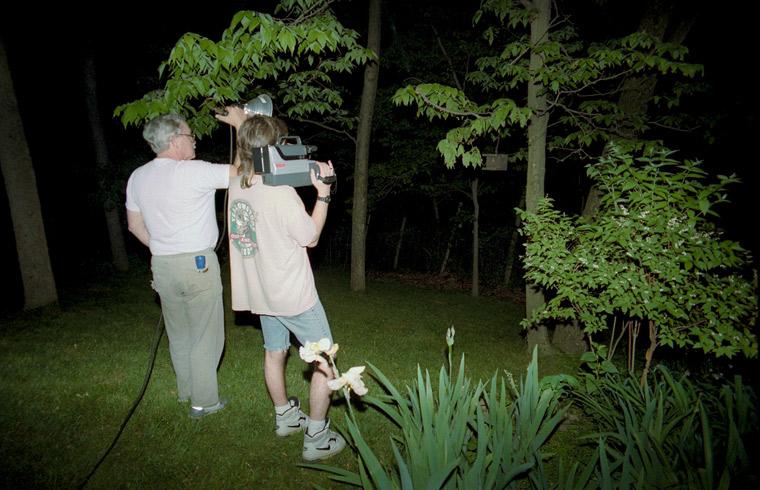 Roy 1988 Roy & Pa Watching Emerging Cicadas
