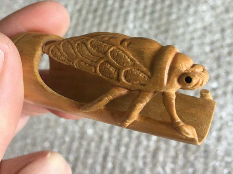 Carved Bamboo Cicada